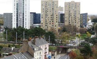 Les tours du quartier Malakoff, non loin de la gare de Nantes.