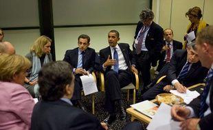 Barack Obama et Nicolas Sarkozy au sommet de Copenhague sur le climat, en décembre 2009.