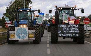 Une grosse manifestation avait déjà eu lieu en juillet 2015 devant le siège de Lactalis de Laval