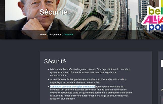 Capture d'écran du site de Jean-Luc Bennhamias.
