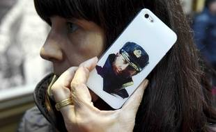 Vladimir Poutine sur une coque d'iPhone