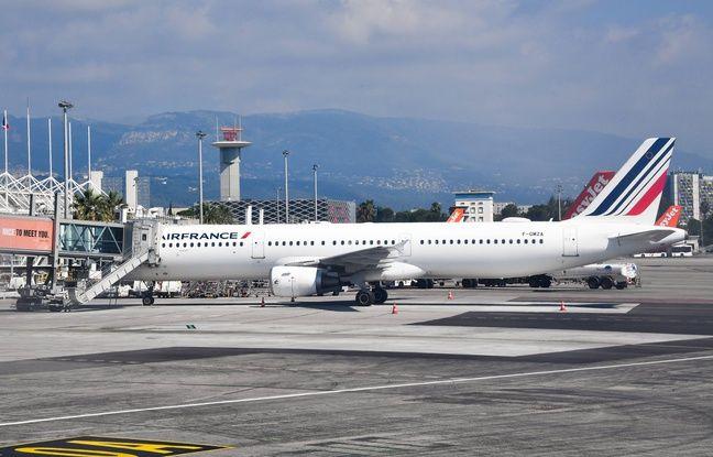 648x415 un avion air france a l aeroport nice cote d azur illustration