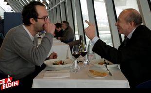 Gérard Collomb lors de l'émission Face à Eldin, diffusée vendredi 13 février dans le Petit Journal.