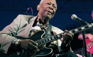 B.B. King, le 22 août 2012, à Indianola (Mississippi).
