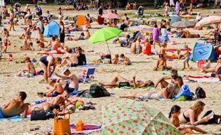 Une plage dans l'ouest de la France été 2015.