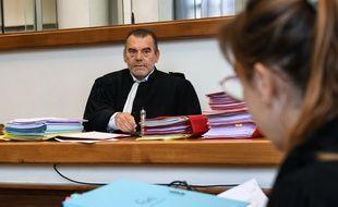 Me Frank Berton, avocat d'Erwan Gouget, à l'ouverture de son procès, le 14 juin 2018.