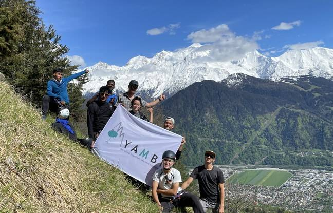 L'équipe de Yambi quasiment au complet, le regard bien tourné vers l'objectif Mont-Blanc.