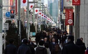 Le quartier commerçant de Ginza, à Tokyo, le 26 décembre 2014
