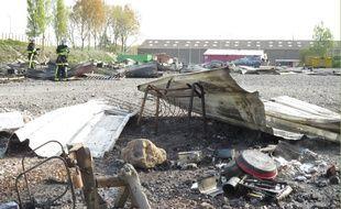 Grande-Synthe, le 11 varil 2017 - Reportage au camp de migrants de La Liniere