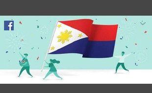 Le drapeau philippin a été mis à l'envers par Facebook.