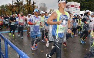 Photo du marathon de Kanazawa, au Japon, remporté par le Russe Viktor Ugarov alors qu'il n'avait pas le droit de courir.