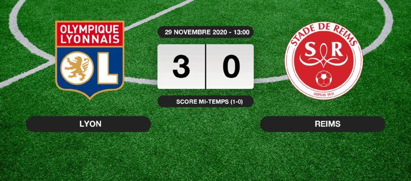 OL - Stade de Reims: L'OL s'impose à domicile 3-0 contre le Stade de Reims