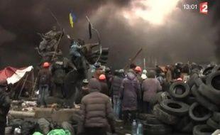 Capture d'écran du zap actu du 21 février 2014.