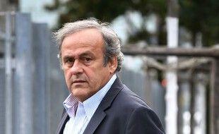 Michel Platini au siège du Ministère public de la Confédération à Berne, le 31 août 2020.