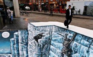 Deux artistes ont recrée le mur de «Game of Thrones» en verison 3D, à Londres.