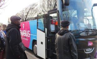 Un bus Ouibus à Nantes