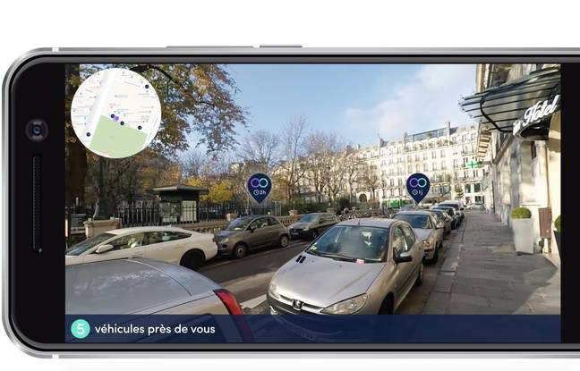 L'application de réalité augmentée Koolicar pour identifier les véhicules en autopartage.