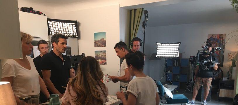 Sur un tournage de Demain nous appartient à Sète
