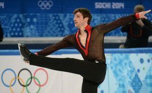 Le patineur Brian Joubert, lors de son programme libre des JO de Sotchi, le 14 février 2014