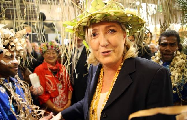 Marine Le Pen, February 28, 2019, at the stands of overseas territories of the Salon de l'Agriculture, in Paris.