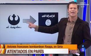 Un journaliste espagnol présente le symbole de l'alliance rebelle de Star Wars comme celui d'Al-Qaida.