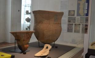 Cette sorte de pelle réalisée à partir d'un os est aussi une pièce à haute valeur de l'exposition.