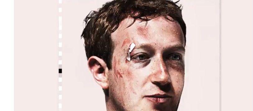 La une de Wired avec Mark Zuckerberg défiguré.