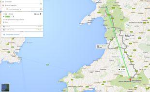 Google Maps intègre une fonctionnalité permettant de calculer ses trajets à dos de dragon ou de monstre du Loch Ness