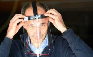 Thierry Plagué, le PDG de la société Guardtex, qui produit des masques de protection à destination des professionnels de santé mobilisés contre le coronavirus.