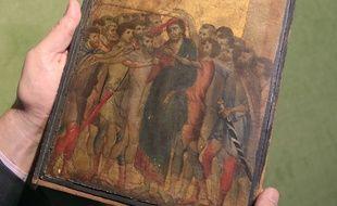 """""""Le Christ moqué"""" de Cimabue, photographié à Paris, le 24 octobre 2019."""