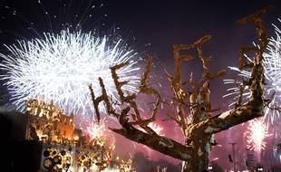 Feu d'artifice au Hellfestle 20 juin 2015 /SALOM-GOMIS_SALOMGOMIS037/Credit:SEBASTIEN SALOM-GOMIS/SIPA/1506211229
