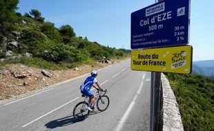 Le Col d'Eze (Alpes-Maritimes), une étape de montagne du Tour de France 2020.