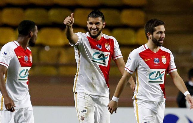 Avec l'AS Monaco, Farès Bahlouli a au total inscrit 2 buts en 11 apparitions en 2015-2016, comme ici en 32e de finale de Coupe de France face à Saint-Jean Beaulieu (10-2). VALERY HACHE
