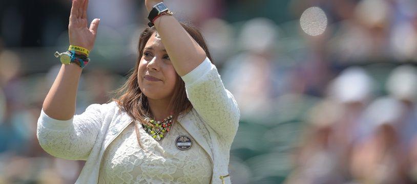 La Française Marion Bartoli le 24 juin 2014 à Wimbledon.
