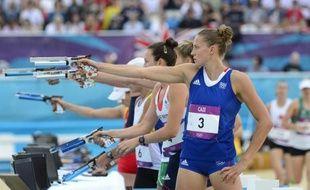 Amélie Cazé a clos tristement dimanche la compétition des Bleus lors des jeux Olympiques de Londres, en échouant à une très décevante 18e place pour la triple championne du monde, tant attendue sur le podium.