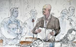 Un croquis d'audience de Tony Meilhon réalisé le 13 octobre à la cour d'appel de Rennes