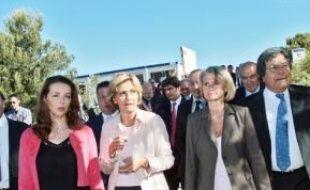 Valérie Pécresse a visité les campusd'Aix et de Luminy.