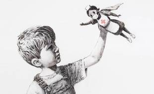 Détail de l'oeuvre de Banksy, intitulée «Game Changer» (2020).