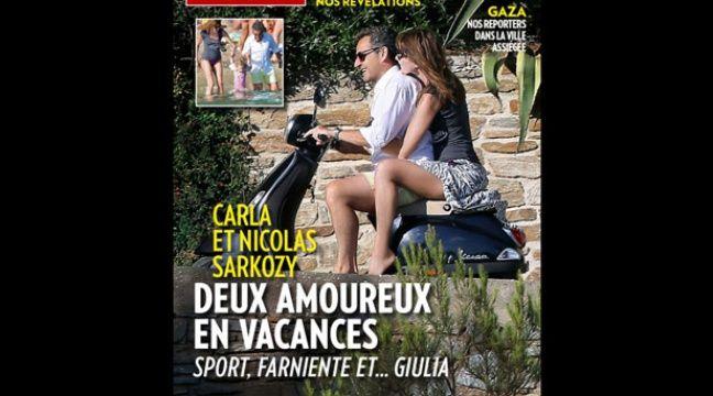 Nicolas Sarkozy Et Carla Bruni Roulent Sans Casque La Une De Paris Match Fait Reagir Sur Twitter