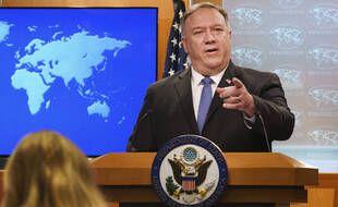 Le secrétaire d'Etat américain Mike Pompeo, le 10 novembre 2020 à Washington.