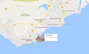 Le fort de l'Ève se situe au sud-ouest de Saint-Nazaire.