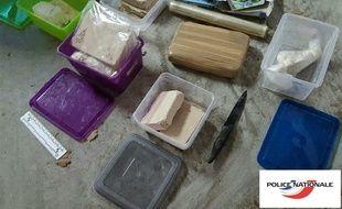 Une partie de la drogue saisie par les policiers nantais et lorientais.