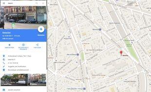 «Daesh» localisé au Bataclan sur Google Maps le 16 novembre 2015.