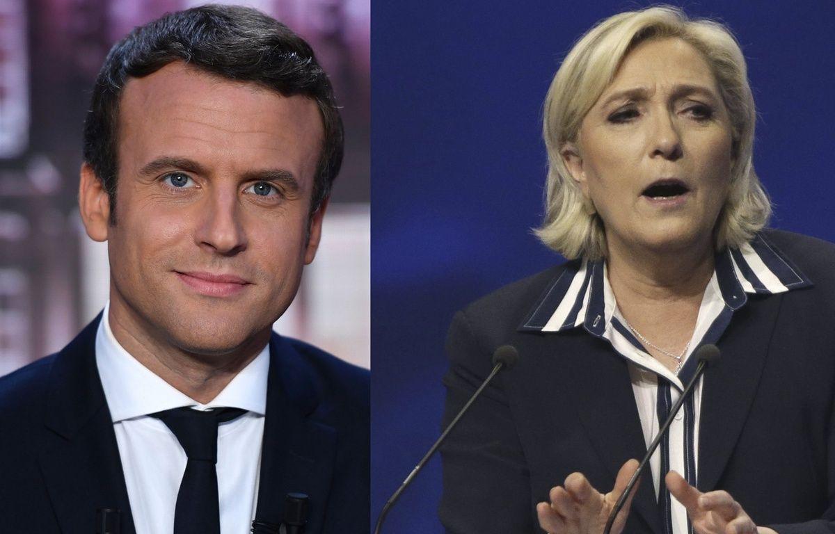 Montage Emmanuel Macron / Marine Le Pen, le 27 avril 2017. – Montage AFP/SIPA