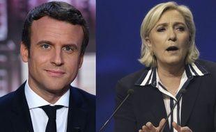 Montage Emmanuel Macron / Marine Le Pen, le 27 avril 2017.