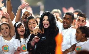 Le chanteur Michael Jackson aux World Music Awards à Earls Court (Londres) en 2006