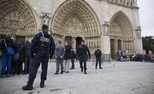 Le 21 mai 2013. (Photo d'illustration) Des policiers agressés à Notre-Dame à Paris, le 6 juin 2017.