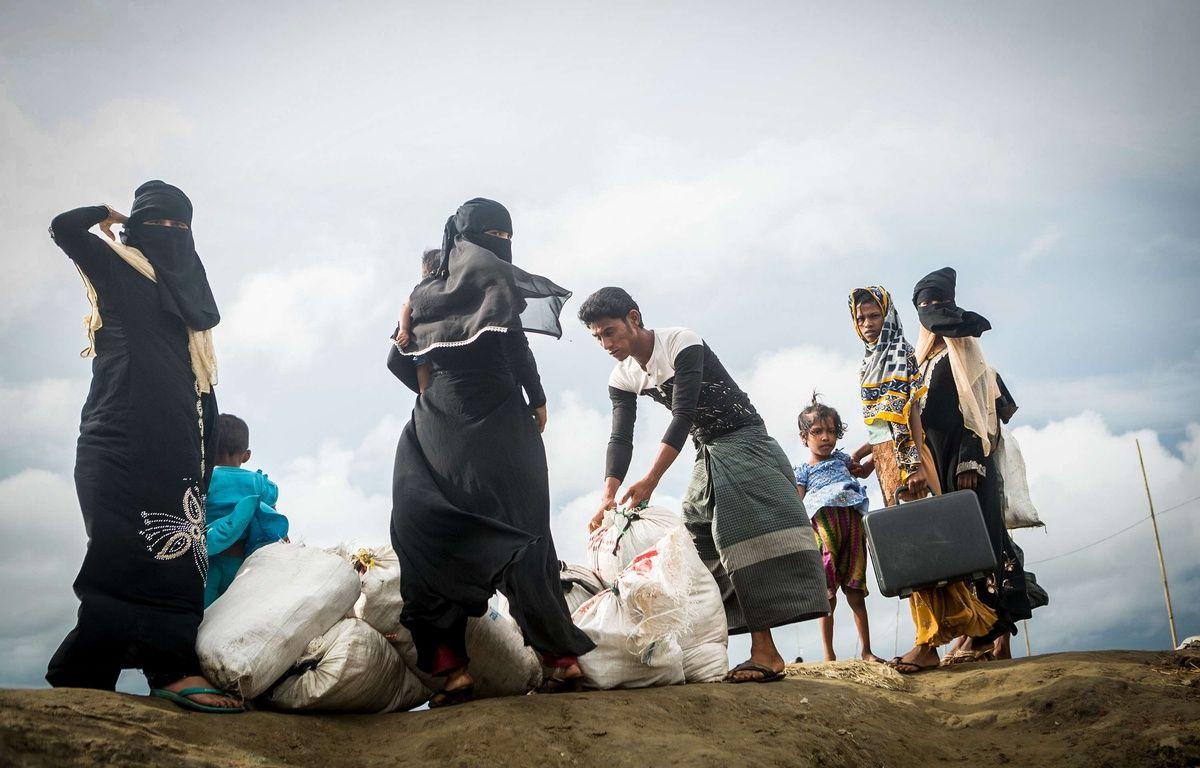 Depuis le 25 octobre 2017, les violences entre musulmans et bouddhistes en Birmanie ont mis des milliers de civils sur les routes. – SIPA
