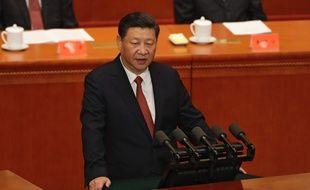 Le président chinois Xi Jinping durant la cérémonie célébrant le 90e anniversaire de la fondation de l'Armée rouge, le 1er août 2017.