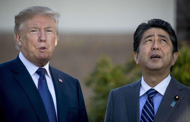 Donald Trump et le Premier ministre Shinzo Abe à Kawagoe, près de Tokyo, le 5 novembre 2017.